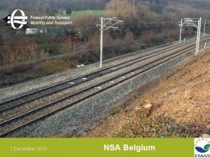 1 December 2010 NSA Belgium Constructing modifying and