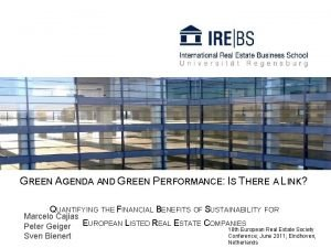 GREEN AGENDA AND GREEN PERFORMANCE IS THERE A
