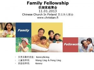 Family Fellowship 11 01 2013 Chinese Church In