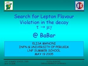 Search for Lepton Flavour Violation in the decay
