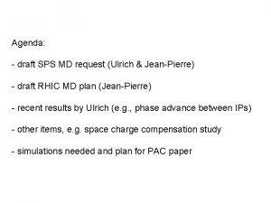 Agenda draft SPS MD request Ulrich JeanPierre draft