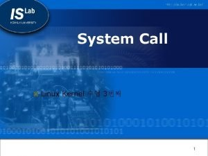 System Call Linux Kernel 3 1 System call