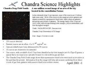 Chandra Science Highlights Chandra Deep Field South A