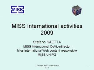MISS International activities 2009 Stefano SAETTA MISS International