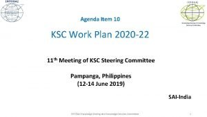 INTOSAI Agenda Item 10 Knowledge Sharing Knowledge Services