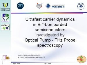 Ultrafast carrier dynamics in Brbombarded semiconductors investigated by