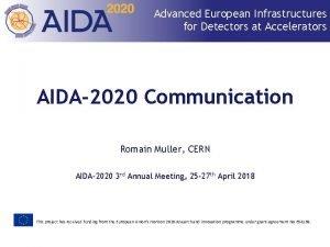 Advanced European Infrastructures for Detectors at Accelerators AIDA2020