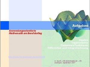 Deckblatt http www hsesslingen dede20068 R Wurth LFB