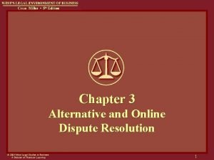 Chapter 3 Alternative and Online Dispute Resolution 2004
