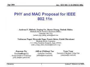 Sept 2004 doc IEEE 802 11 04 0960
