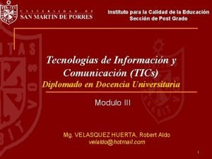 Instituto para la Calidad de la Educacin Seccin
