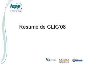 Rsum de CLIC 08 Worldwide CLIC CTF 3
