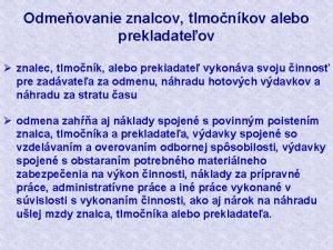Odmeovanie znalcov tlmonkov alebo prekladateov znalec tlmonk alebo