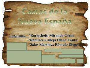 Integrantes Enriachetti Miranda Giann Ramrez Calleja Diana Laura