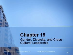 Chapter 15 Gender Diversity and Cross Cultural Leadership
