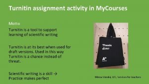 Turnitin assignment activity in My Courses Motto Turnitin