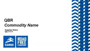 QBR Commodity Name Supplier Name QQ YYYY AGENDA
