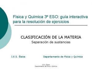 Fsica y Qumica 3 ESO gua interactiva para