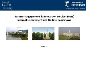 Business Engagement Innovation Services BEIS Internal Engagement and