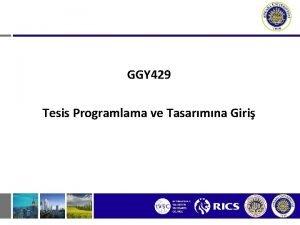 GGY 429 Tesis Programlama ve Tasarmna Giri 634