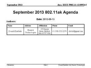 September 2013 doc IEEE P 802 11 130953