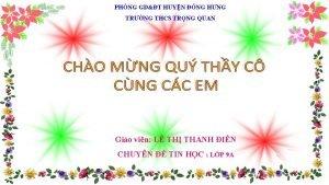 PHNG GDT HUYN NG HNG TRNG THCS TRNG