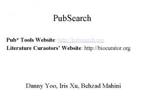 Pub Search Pub Tools Website http pubsearch org
