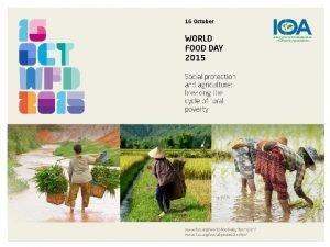 World Food Day 2015 World Food Day 2015