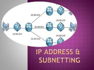 Sub Netting adalah proses membagi sebuah network menjadi