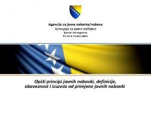 Agencija za javne nabavkenabave Bosna i Hercegovina Opti