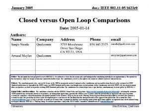 January 2005 doc IEEE 802 11 051623 r