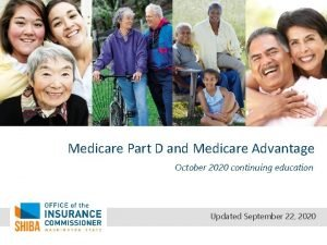 Medicare Part D and Medicare Advantage October 2020