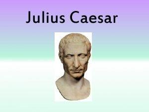Julius Caesar During the Civil War Caesar organized