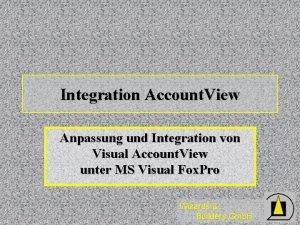 Integration Account View Anpassung und Integration von Visual