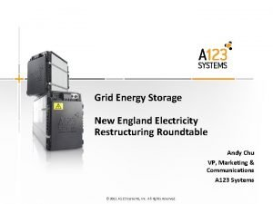 Grid Energy Storage New England Electricity Restructuring Roundtable