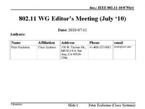 doc IEEE 802 11 100793 r 1 802