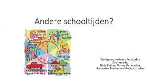 Andere schooltijden Werkgroep andere schooltijden Dromedaris Silvia Bakker