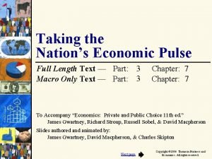 Taking the Nations Economic Pulse Full Length Text