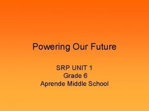 Powering Our Future SRP UNIT 1 Grade 6