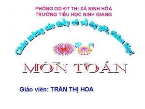 PHNG GDT TH X NINH HA TRNG TIU