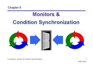 Chapter 5 Monitors Condition Synchronization Concurrency monitors condition