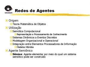 Redes de Agentes z Origem y Teoria Matemtica