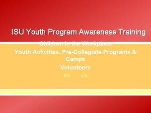 ISU Youth Program Awareness Training Children in the