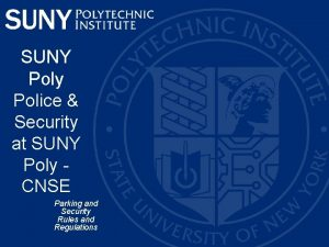 SUNY Poly Police Security at SUNY Poly CNSE