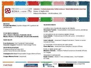 DONNE E TECNOLOGIA NELLEPOCA DELLA TRASFORMAZIONE DIGITALE Roma