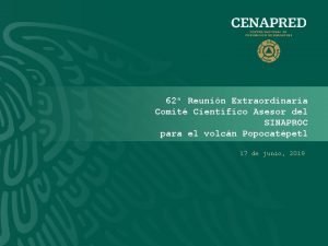 62 Reunin Extraordinaria Comit Cientfico Asesor del SINAPROC