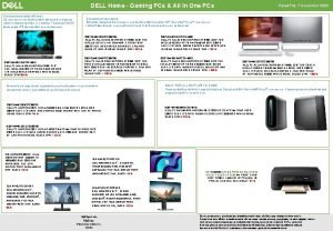 DELL Home Gaming PCs All In One PCs