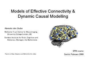 Models of Effective Connectivity Dynamic Causal Modelling Hanneke