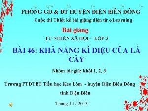 PHNG GD T HUYN IN BIN NG Cuc