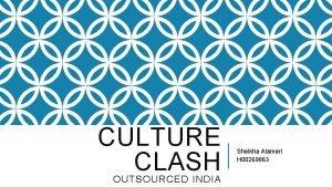 CULTURE CLASH OUTSOURCED INDIA Sheikha Alameri H 00269863